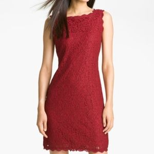 Adrianna Papell Evening boatneck lace dress 14